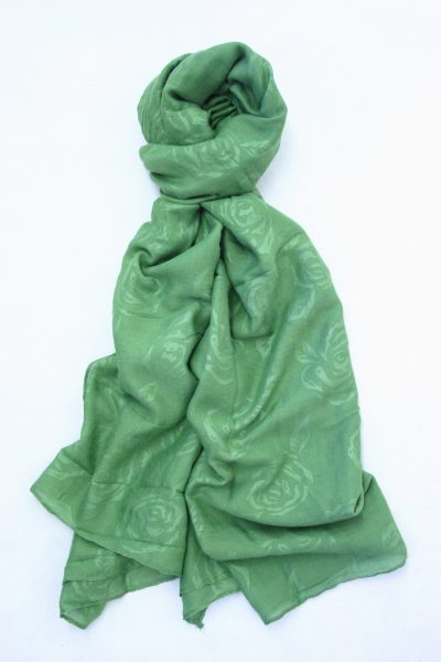 flower-self-print-shawl-green-1