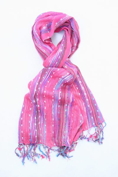 striped-jamawar-shawl-hot-pink-1