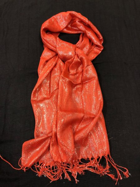 Red shimmer shawl